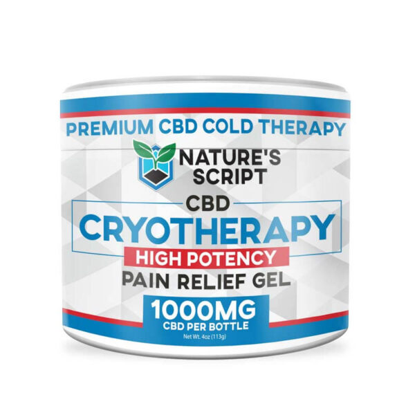 Cryotherapy CBD Rub 4oz 1000mg