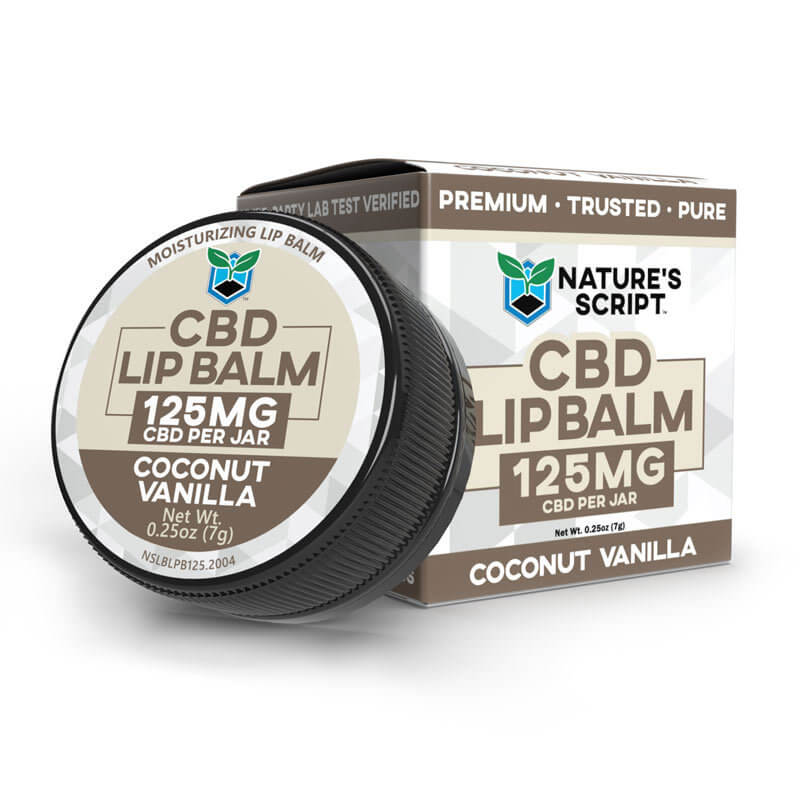 CBD Infused Lip Balm Coconut Vanilla
