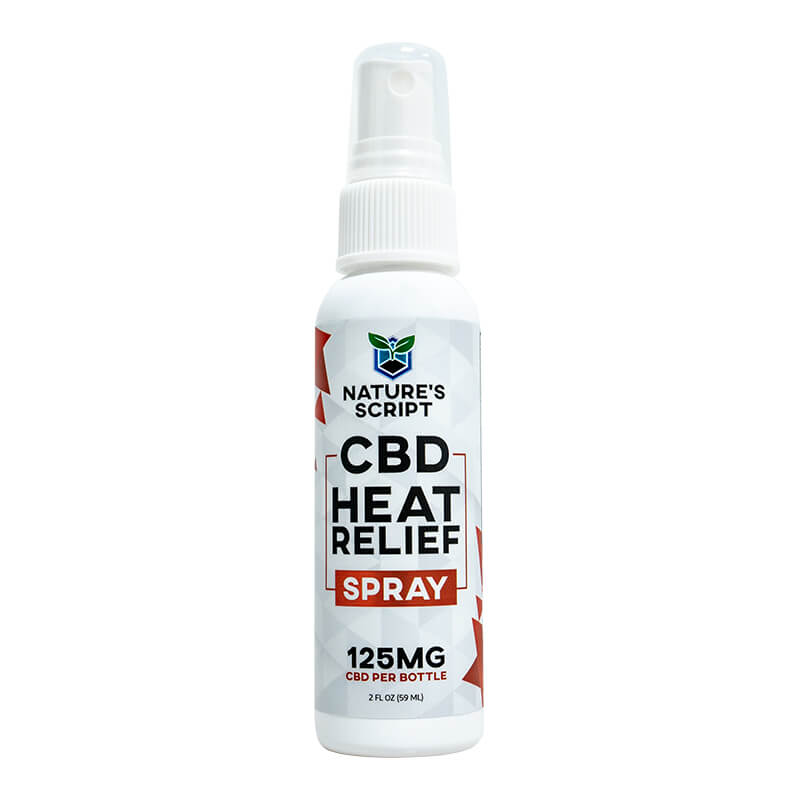 CBD Warming Heat Relief Spray 2.0oz