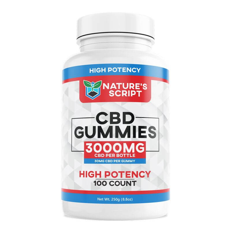 Double Strength CBD Gummies 100 count l 100 count
