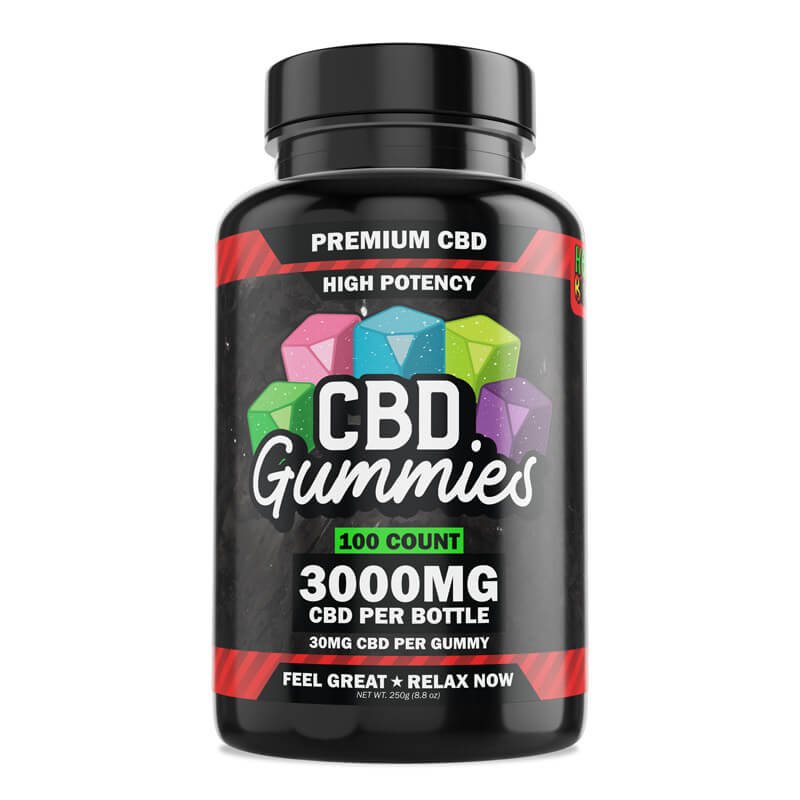 CBD Gummies High Potency 3000mg