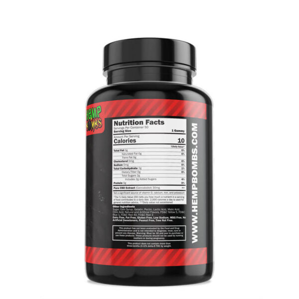 CBD Gummies High Potency 50ct Label