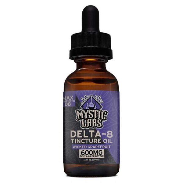 Delta-8 Tincture Oil 600mg Wicked Grapefruit